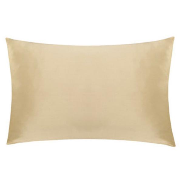 gold silk pillowcase